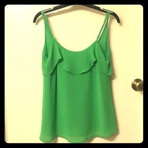 Slinky green camisole